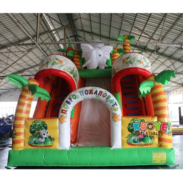 SL003 Inflatable Elephant Slide Playground 4