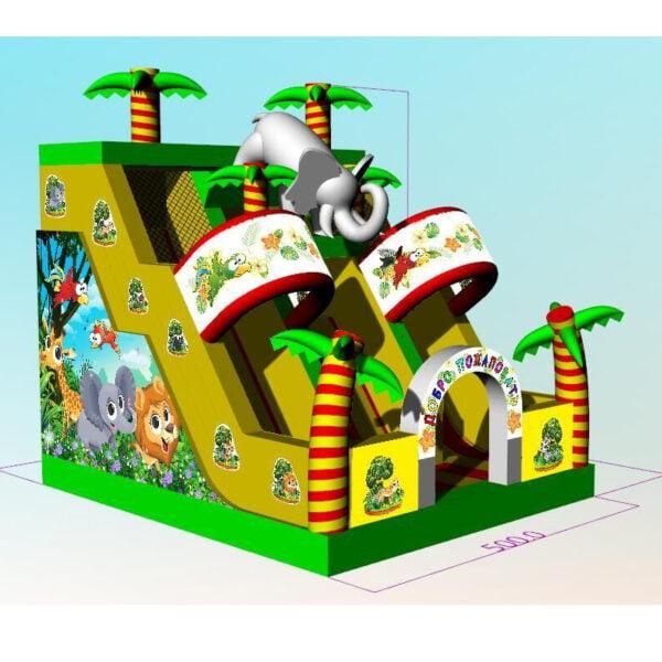 SL003 Inflatable Elephant Slide Playground 6