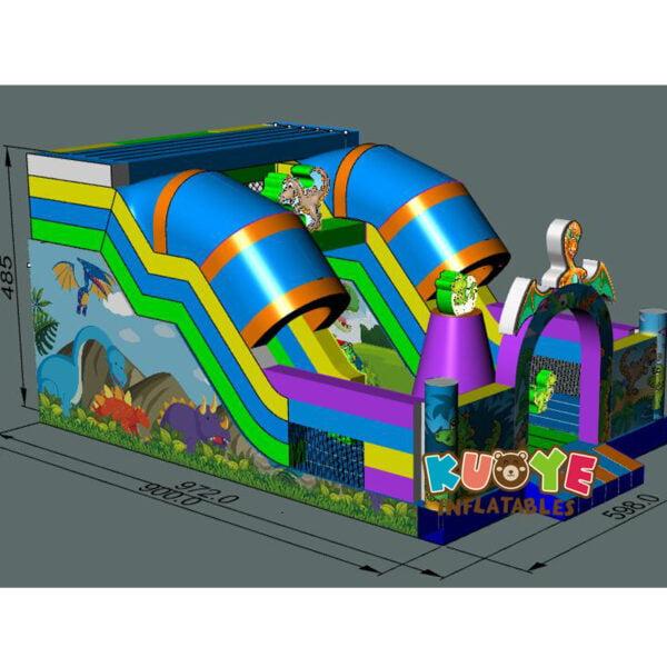 SL002 Jurassic Dinosaur Inflatable Slide 6