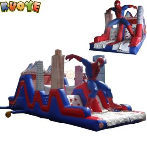 KYOB22 Spiderman Inflatable Obstacle Course