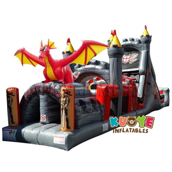 OC001 Outdoor Commercial Dragon Obstacle Course Inflatable