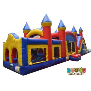 OC009 Triple Play Inflatable 3 Piece Wet Dry Obstacle Course