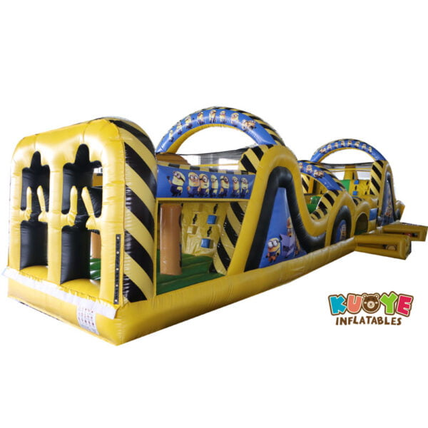 OC008 15m Minions Rush Obstacle Course Inflatable 2