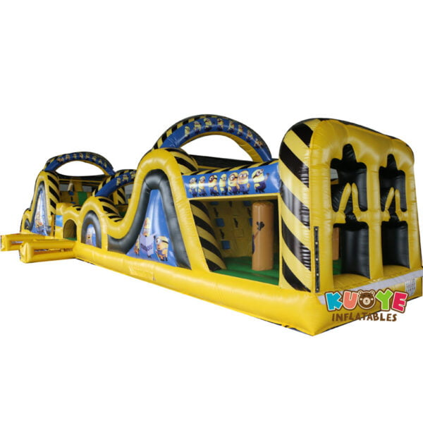 OC008 15m Minions Rush Obstacle Course Inflatable
