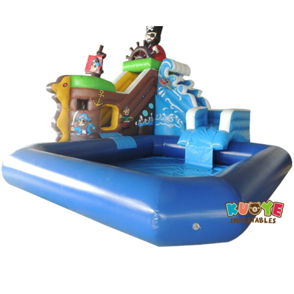 WG1824 Inflatable Pirate Water Slide with Pool