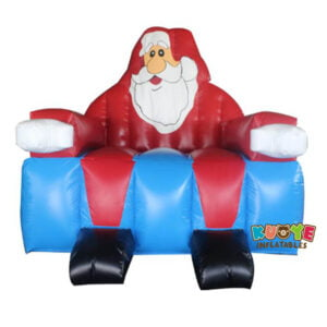 Xmas002 3m Christmas Party PVC Material Inflatable Santa Claus Chair