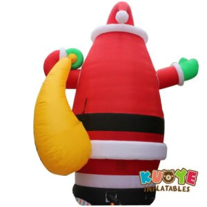 Xmas006 8m Amazing Inflatable Giant Christmas Santa Claus with Gift