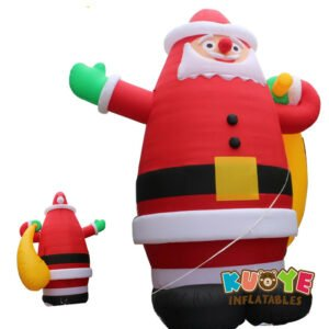 Xmas006 8m Amazing Inflatable Giant Christmas Santa Claus with Gift 2