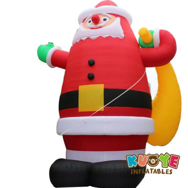 Xmas006 8m Amazing Inflatable Giant Christmas Santa Claus with Gift 4