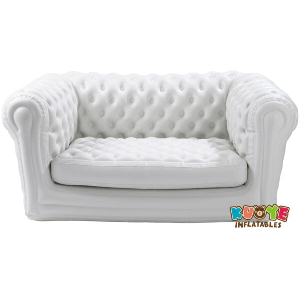 CS002 Inflatable Chesterfield Sofa 2 Seater White