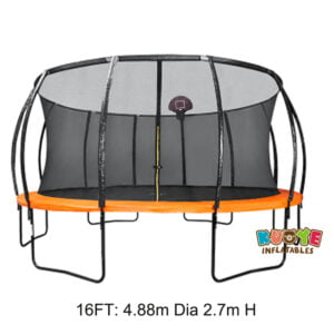 T006 16ft Trampoline Jumping Mat with Basketball Hoop