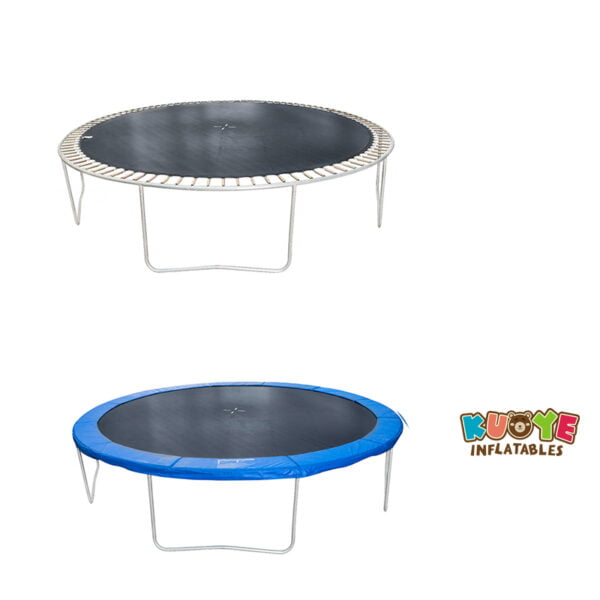 T010 14ft Trampoline with Safety Netting and Ladder 3