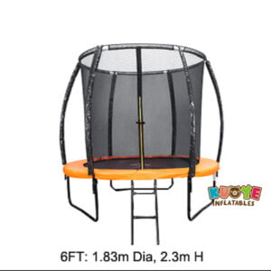 T002 6ft Trampoline with Basketball Hoop