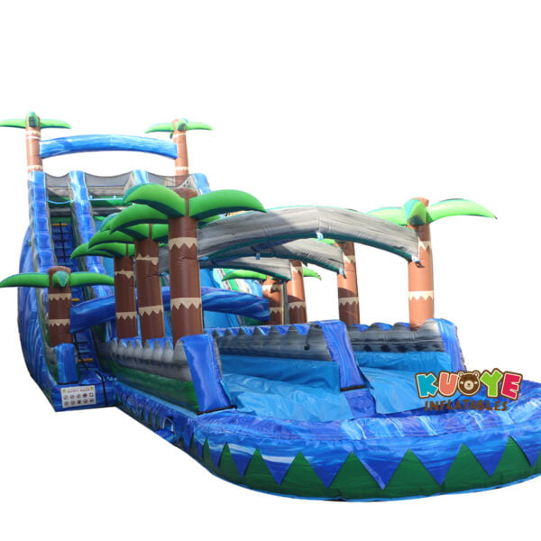 WS1832 Blue Crush Inflatable Water Slide