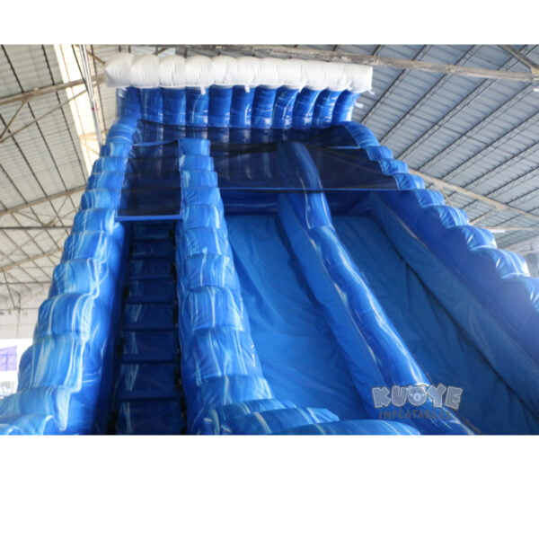 WS002 23ft Blue Marble Wave Double Lane Water Slide 5