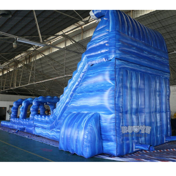 WS002 23ft Blue Marble Wave Double Lane Water Slide 4