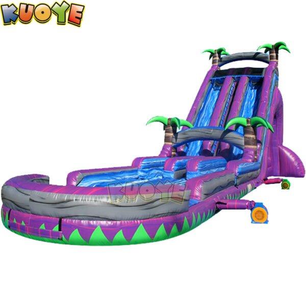 WS1878 27ft Roaring River Tropical Purple Water Slide 3