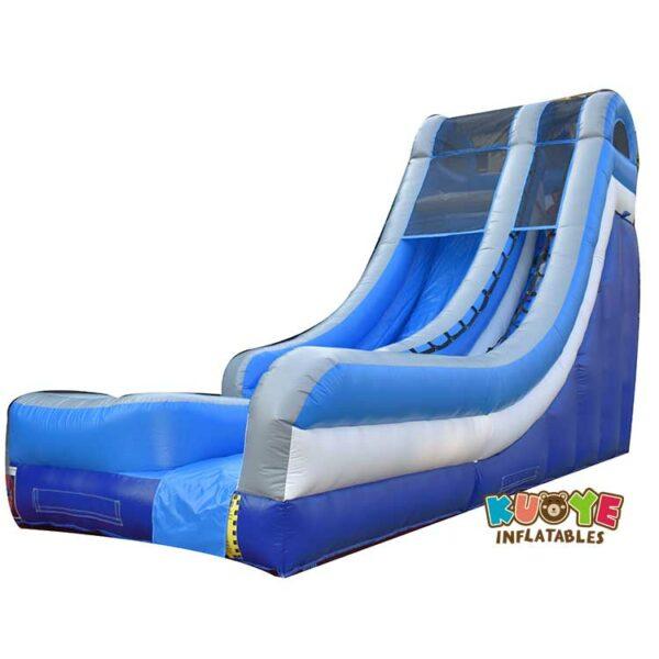 WS039 18FT Blue Wet Dry Inflatable Slide