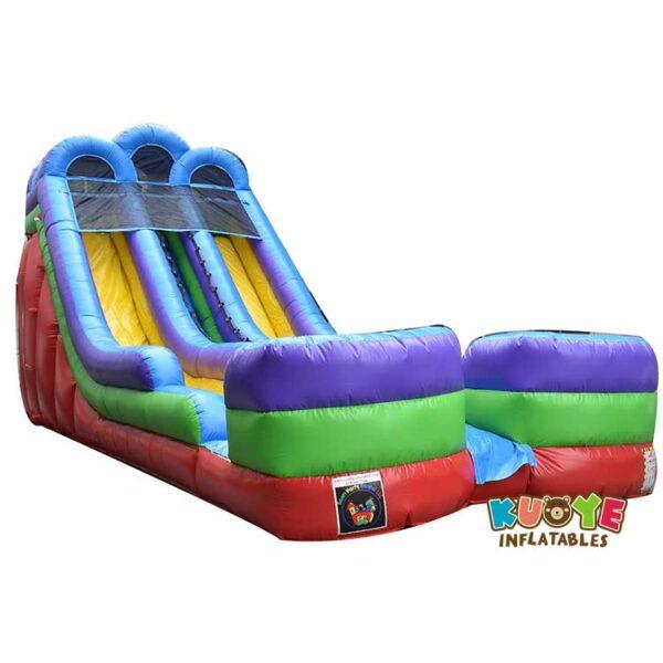WS041 18FT Double Lane Retro Slide Inflatable