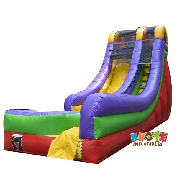 WS040 18FT Retro Rainbow Inflatable Slide