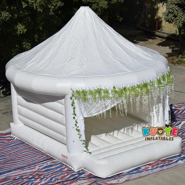 White Wedding Bouncy Castle 4