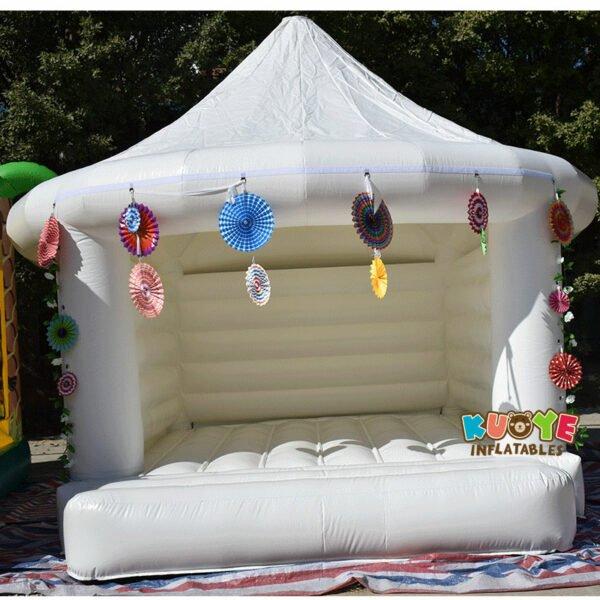 White Wedding Bouncy Castle 6