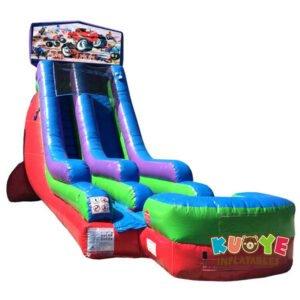WS085 18FT Inflatable Monster Truck Water Slide