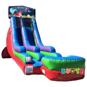 WS086 18FT Inflatable Little Mermaid Water Slide