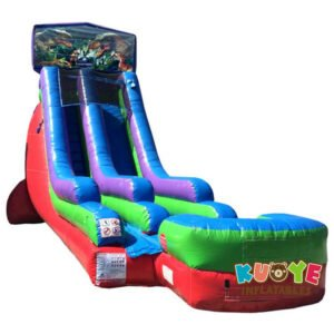 WS088 18FT Inflatable Jurassic Park Water Slide