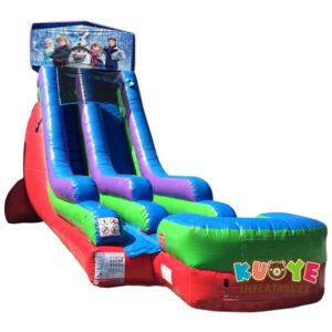 WS089 18FT Inflatable Frozen Water Slide