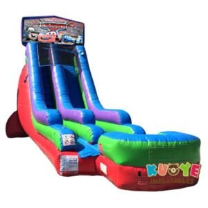 WS091 18FT Inflatable Cars Water Slide