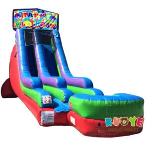 WS093 18FT Inflatable Balloon Birthday Water Slide