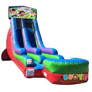 WS095 18FT Inflatable Dora Water Slide