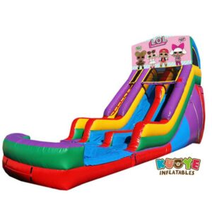 WS097 18FT Inflatable LOL Surprise Water Slide with Dual Lane