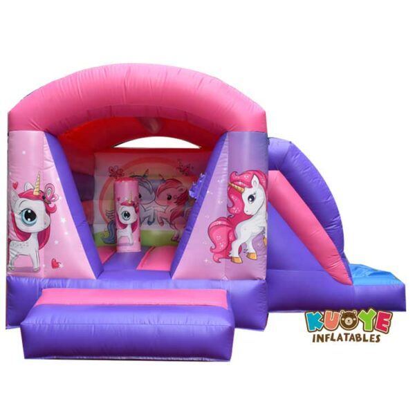 CB0106 Indoor Small Unicorn Bouncy Castle With Slide