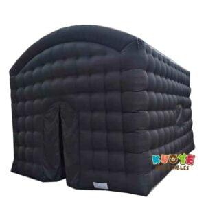 TT024  Black air cube tent inflatable screen move tent