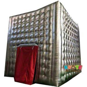 TT018 Silver 16x16x16 Feet Inflatable Cube Tent