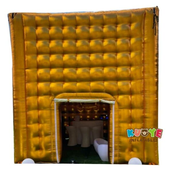 TT019 Gold 16x16x16 Feet Inflatable Cube Party Tent