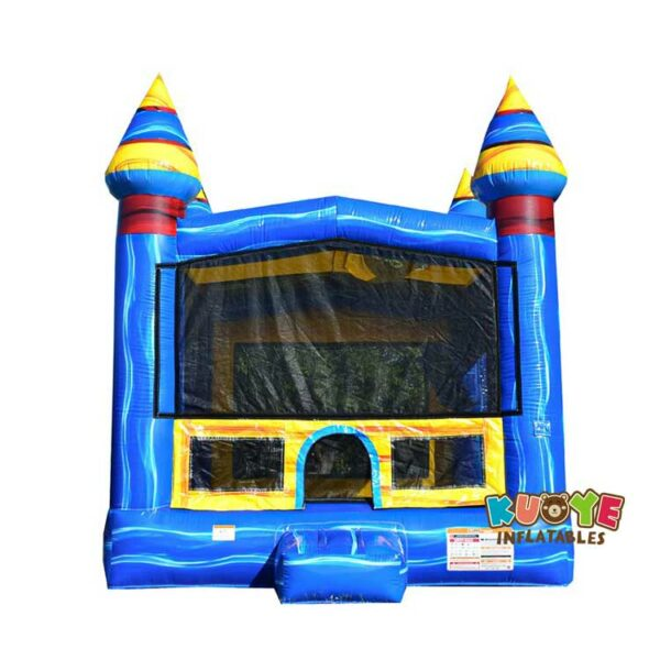 BH132 13′ x 13′  Blue Bounce House with Air Blower