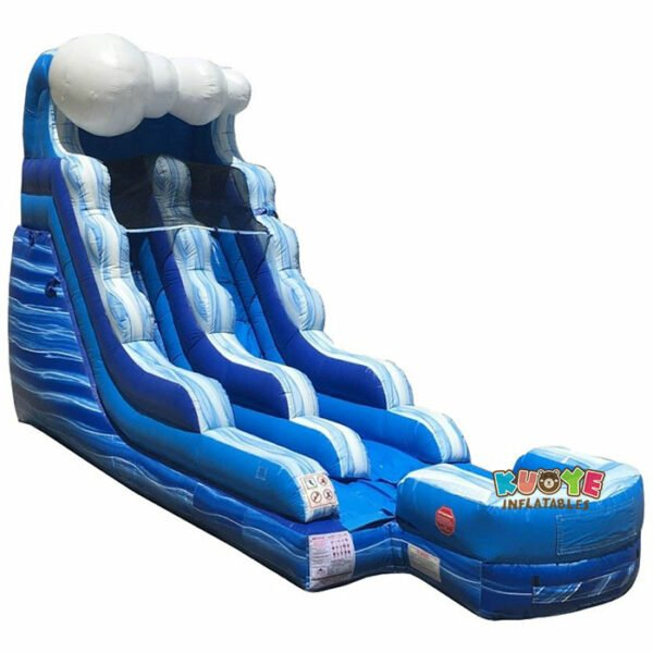 WS107 15′ Tidal Wave Marble Inflatable Water Slide