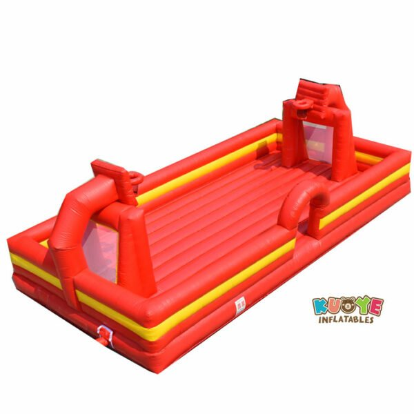SP041 Inflatable Soap soccer Studium Field with Basketball Hoop