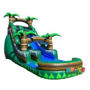 WS102 18FT Tropical Emerald Rush Green Water Slide