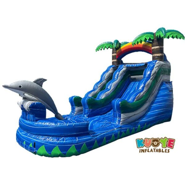 WS104 13FT Dolphin Water Slide