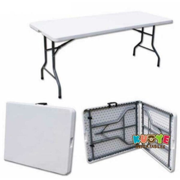 C004  5FT Portable White Outdoor Plastic Folding Tables