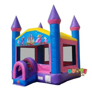 BH146 Pink & Blue Princess Dream Bounce House
