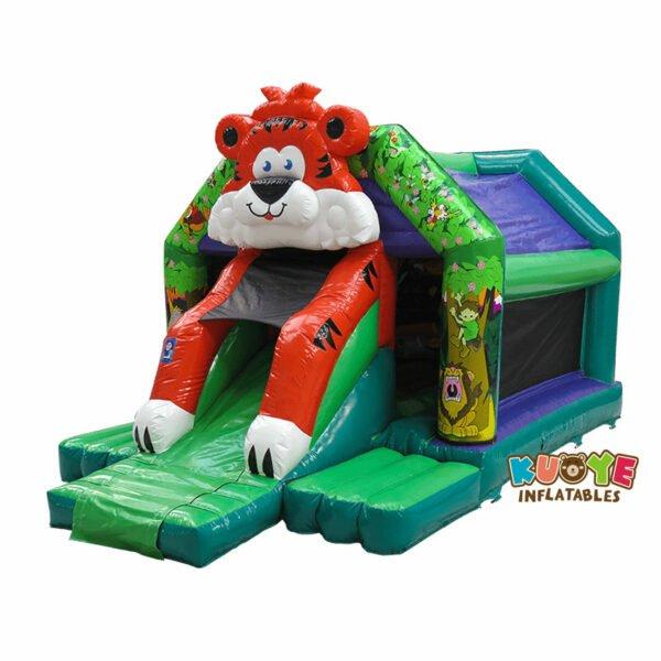 CB113 Tiger Front Slide Bouncy Castle