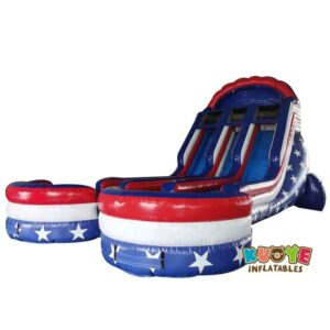 WS123 All American Double Commercial Water slide