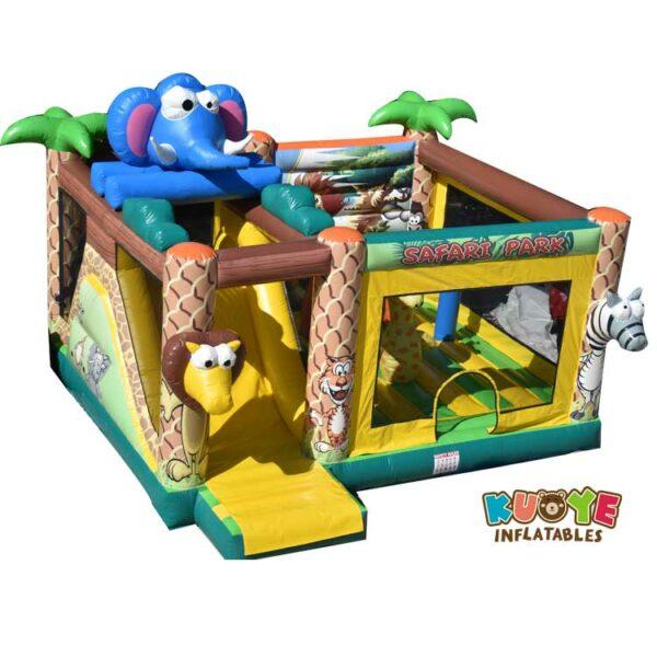 CB0110 Safari Park Bouncy Castle with Slide