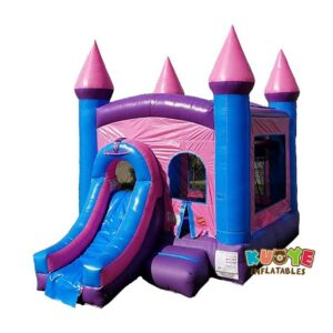 CB153 Pink Bounce House and Slide Combo
