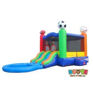 CB155 Dual Lane Sport Bounce House Slide